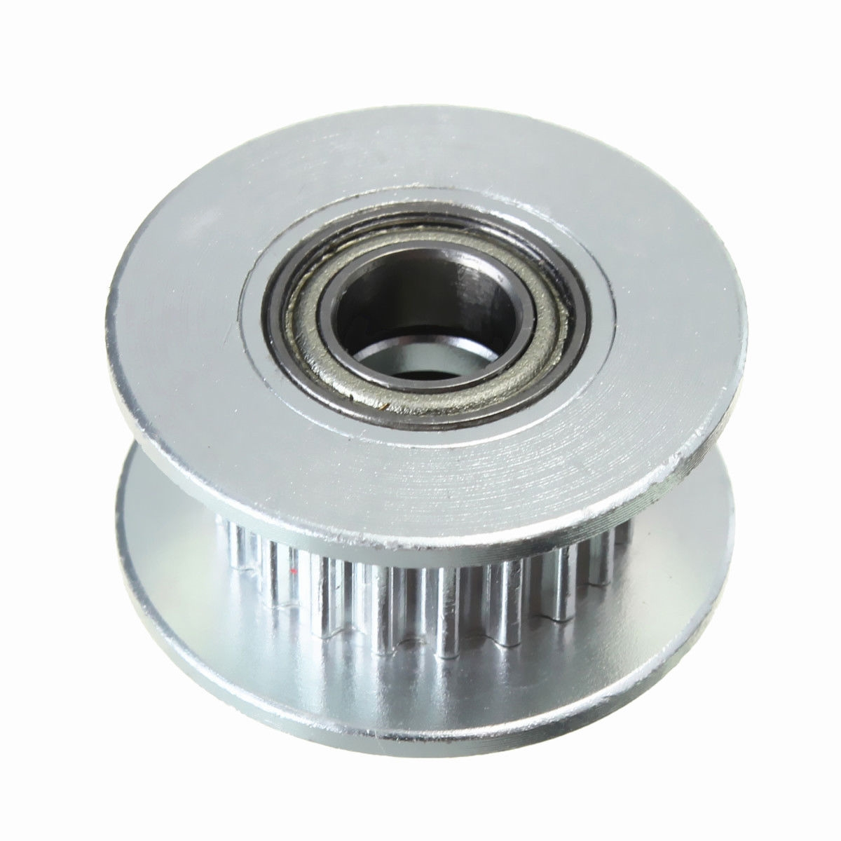 20T 3mm Bore 6mm GT2 Belt Smooth Idler Pulley Aluminum W/Bearing for 3D  Printer